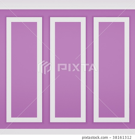decoration classic pink wall ,3d render 38161312