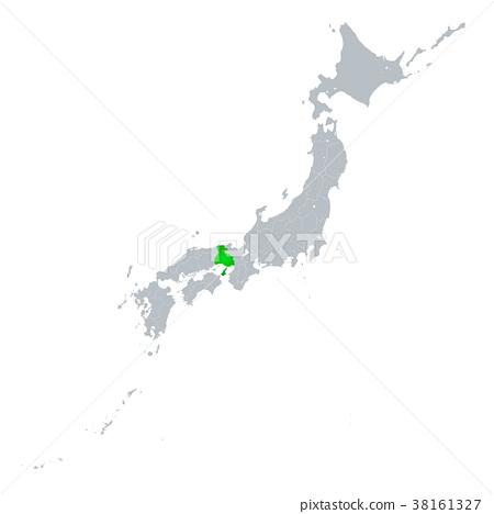 효고현지도 일본 열도 38161327