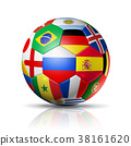 Russia 2018. Football soccer ball with flags 38161620