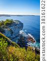 Manly Beach coastal cliffs, Sydney, Australia 38161622