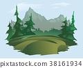 landscape, mountain, vector 38161934