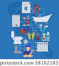 Plumbing Service Infographics 38162183
