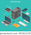 Data Network Isometric Concept 38162230