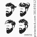 mens hairstyle with beard mustache 38165612
