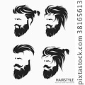 mens hairstyle with beard mustache 38165613