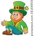 Sitting leprechaun theme image 1 38169959