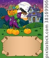 Small parchment and Halloween scarecrow 38169966