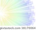 abstract aura stripe corner explode background 38170064