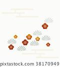 수화 무늬 패턴 매화 솔잎 안개 38170949