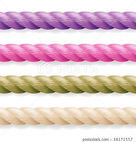 Realistic Rope Vector. Different Color Thickness 38171557