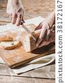 bread, knife, baker 38172167