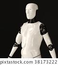 Stylish handsome cyborg 38173222