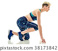 woman runner running jogger jogging isolated white 38173842