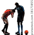 soccer players men isolated silhouette white 38173855