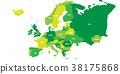지도, 약도, 유럽 38175868
