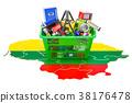 购物 地图 篮子 38176478