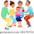 三代人 家庭 家族 38179750