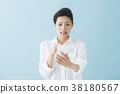 스마트폰, 여성, 여자 38180567
