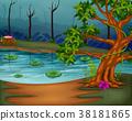 forest, lake, scene 38181865