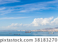 Coastal cityscape with cargo ships, Izmir 38183270