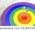 Darts  LGBT and Success concept 38184599
