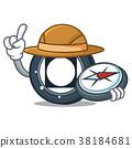 Explorer Byteball Bytes coin mascot cartoon 38184681