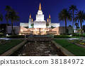Blue Sky Dusk over Oakland California Temple 38184972