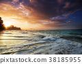 Sea sunset 38185955