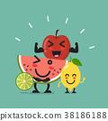 Healthy food emoji characters 38186188