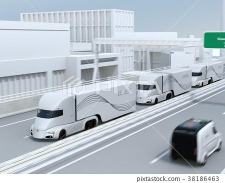 트럭, 고속도로, 자동 운전 38186463