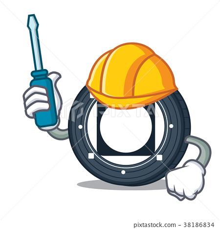 Automotive Byteball Bytes coin mascot cartoon 38186834