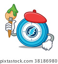 Artist Electroneum coin chracter cartoon 38186980
