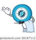Waiter Electroneum coin mascot cartoon 38187112