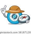 Explorer Electroneum coin mascot cartoon 38187128