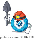 Miner Electroneum coin mascot cartoon 38187210