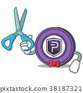 Barber Pivx coin character cartoon 38187321