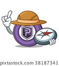 Explorer Pivx coin mascot cartoon 38187341