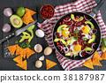 mexican breakfast eggs 38187987