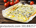 Homemade vegetarian tart with ricotta 38188257