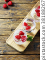 Fresh summer soda cocktail with raspberry 38188267