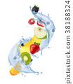 water, splash, fruit 38188324