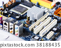 Closeup on electronic board 38188435