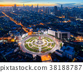 Bangkok city view point from rooftop 38188787
