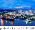 Aerial view of twilight of oil refinery 38188840
