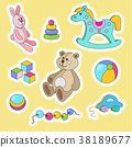 toy, cartoon, sticker 38189677