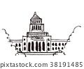 국회 의사당 수채화 38191485