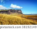 Scenic landscape with the ring road in Iceland 38192149