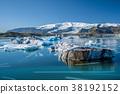 Icebergs in Jokulsarlon glacier lagoon, Iceland 38192152