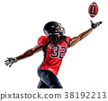 american football player man isolated 38192213
