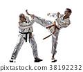 karate men teenager student fighters fighting 38192232